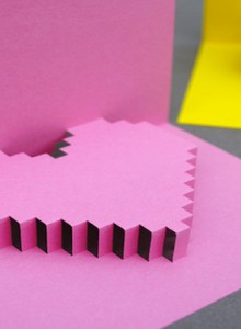 how-to: pixelated heart popup card