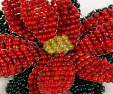 how-to: beaded poinsettia