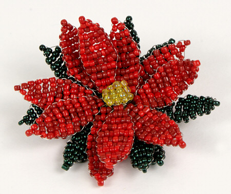 how-to: beaded poinsettia | make handmade, crochet, craft