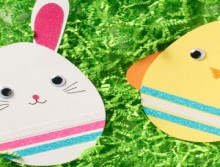 how-to: bunny and chick easter cards