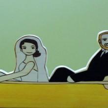 canoe wedding topper