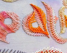 feather stitch embroidery design