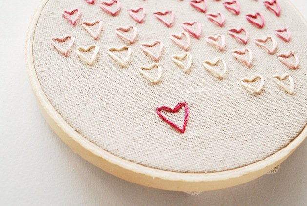 How to stitch embroidered hearts make handmade crochet