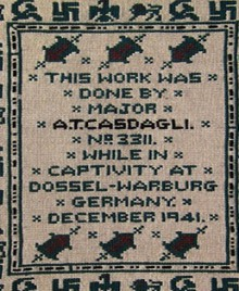 subversive finds: hidden cross stitched messages from a nazi pow