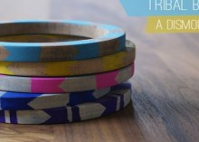 how-to: tribal design-inspired painted bangle bracelets