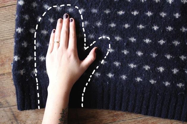How To Recycled Sweater Mittens Make Handmade Crochet Craft