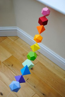 how-to: platonic solids garland