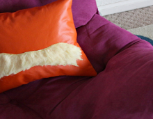 how-to: lorax mustache pillow