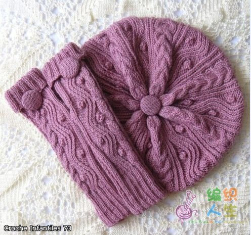 beautiful gift for women: knitting beret, scarf make handmade, crochet, craft
