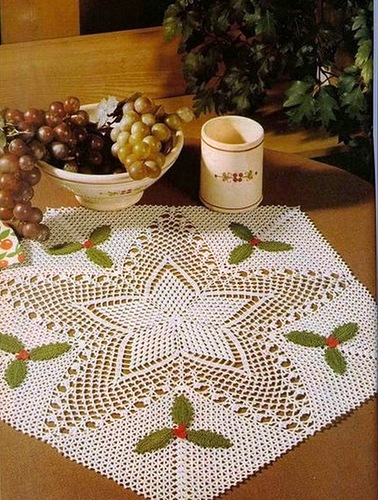 Crochet Patterns Ideas : Christmas craft ideas: Christmas napkins, crochet patterns