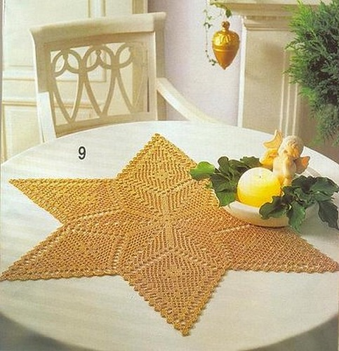 Christmas craft ideas: Christmas napkins, crochet patterns