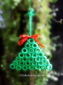 christmas craft ideas: crochet christmas tree tutorial