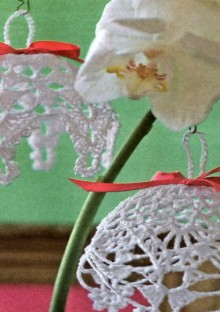christmas craft ideas: crocheted ornament for christmas tree