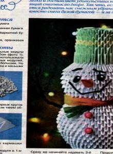 christmas craft ideas for kids: 3d snowmen tutorial