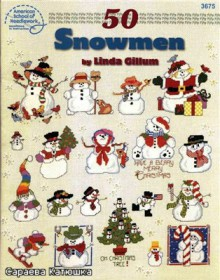 "christmas craft ideas: mini embroidery ""snowmen"""
