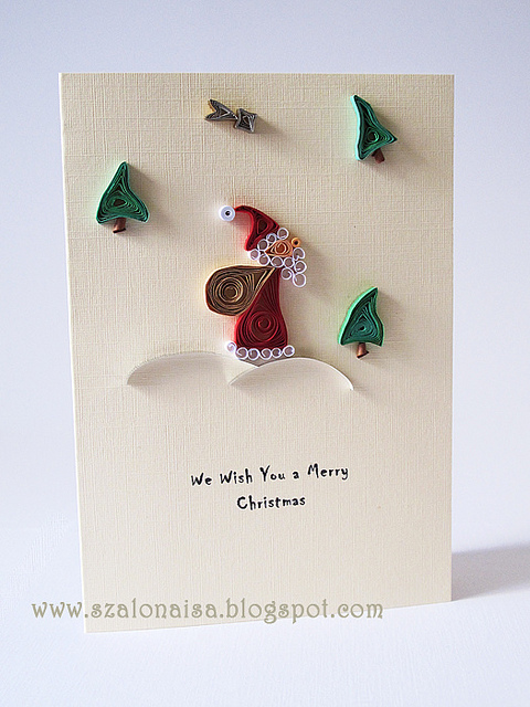 christmas craft ideas: quilling christmas cards