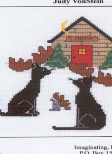 christmas craft ideas: reindeer cross stitch
