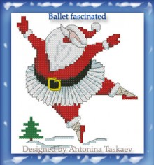 christmas craft ideas: santa clau baleet fascinated cross stitch