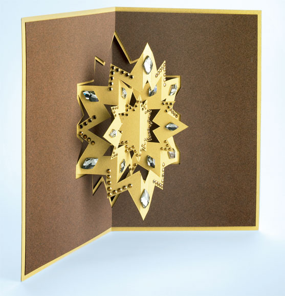 Christmas craft ideas star pop up card tutorial for Pop up card craft