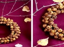 christmas craft ideas: wreath of autumn leaves