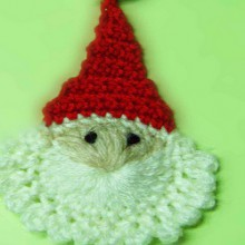 christmas crafts ideas: easy santa crochet tutorial