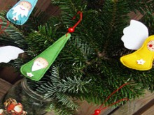 christmas crafts for kids: felt santa claus tutorial
