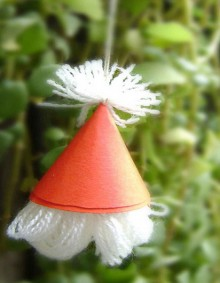 christmas crafts: santa hat tutorial