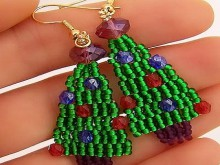 christmas jewelry: beaded earrings tutorial