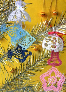 christmas ornament crafts: crocheted patterns