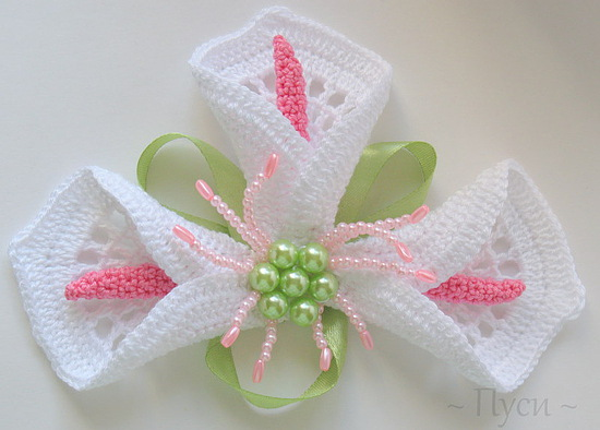 Crocheted Calla Lily Free Crochet Patterns Make Handmade Crochet