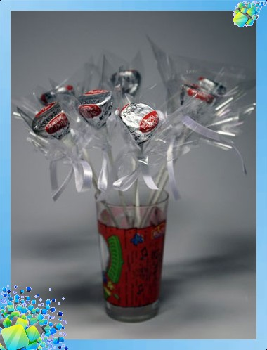 Новогодний сапожок с конфетами букеты +из конфет новые