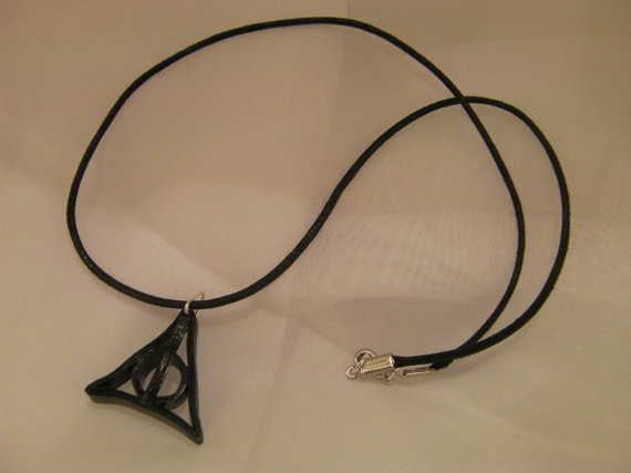 Deathly Hallows Symbol Paper Quilled Necklace