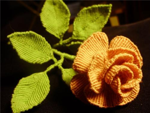 Macrame rose tutorial.