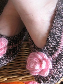 slippers knitting, crochet patterns