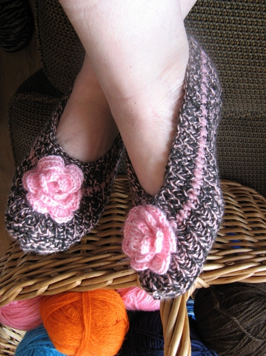 Crocheted Free Knitted Making Pattern Slipper Crochet And Knitting