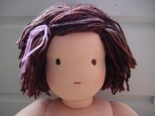gift presents for kids: a waldorf doll hair tutorial