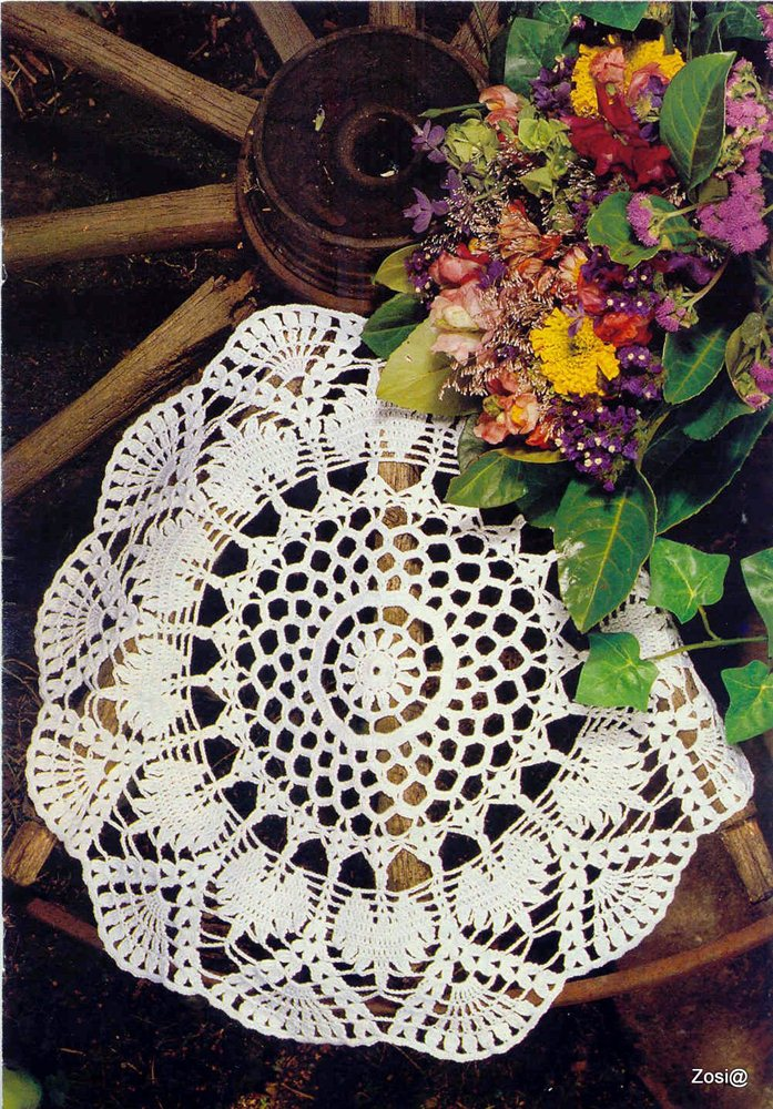 beautiful lace tablecloths  free crochet patterns