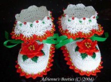 christmas crafts: crocheted booties and hat