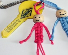 doll knot – knot key chain