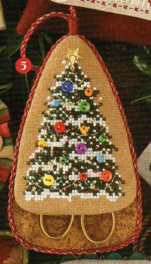 christmas craft ideas: beautiful christmas tree, cross stitch