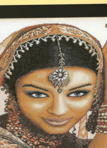 indian model: cuture cross stitch collection