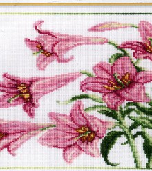 beautiful lily flowers pictures, cross stitch kits