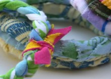 upcycled / recycled t-shirt bangles (tutorial) and weekend stuff…..
