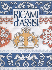 arts and craft book: embroidery assisi. a brief history. scheme for embroidery.