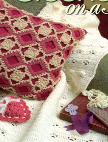 crochet for decor and gifts: crochet heart, pillow and book mark