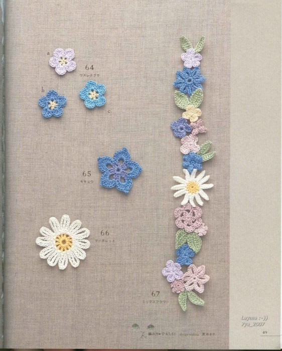 Crochet Mini Flower Pattern Free Traitoro For