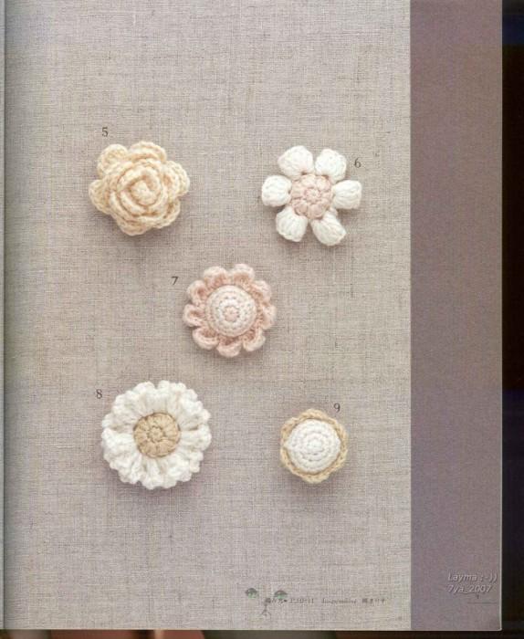 Mini Crochet Flower Patterns Free Flowers Healthy