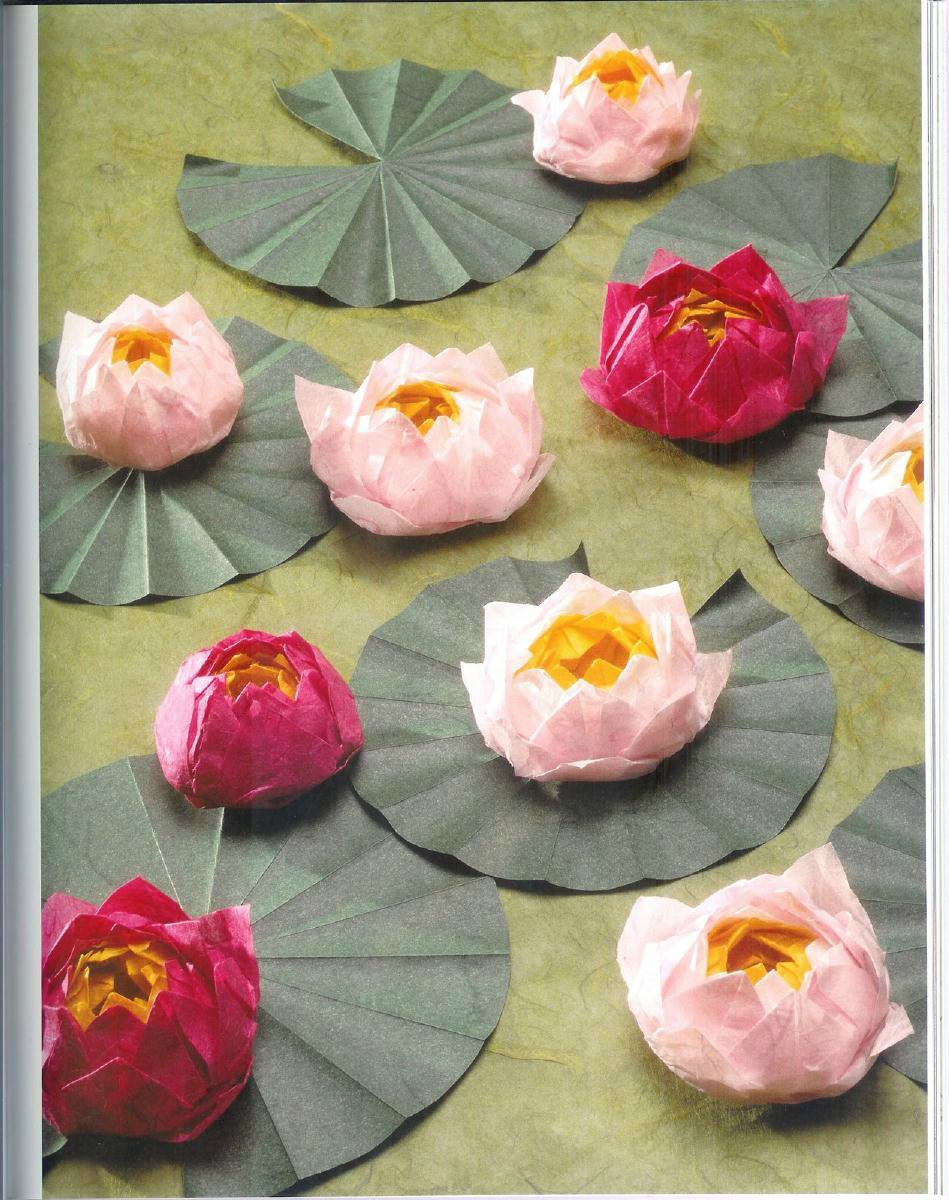 Origami Lotus Flower Tutorial Make Handmade Crochet Craft