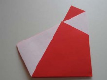 paper crafts for christmas: simple origami santa claus , video tutorial