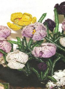 spring crafts: beaded crocus tutorial